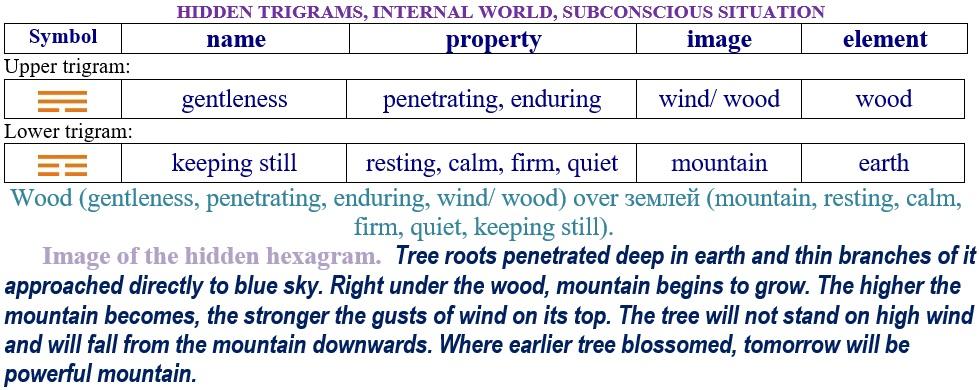 Interpretation of hidden hexagram 12