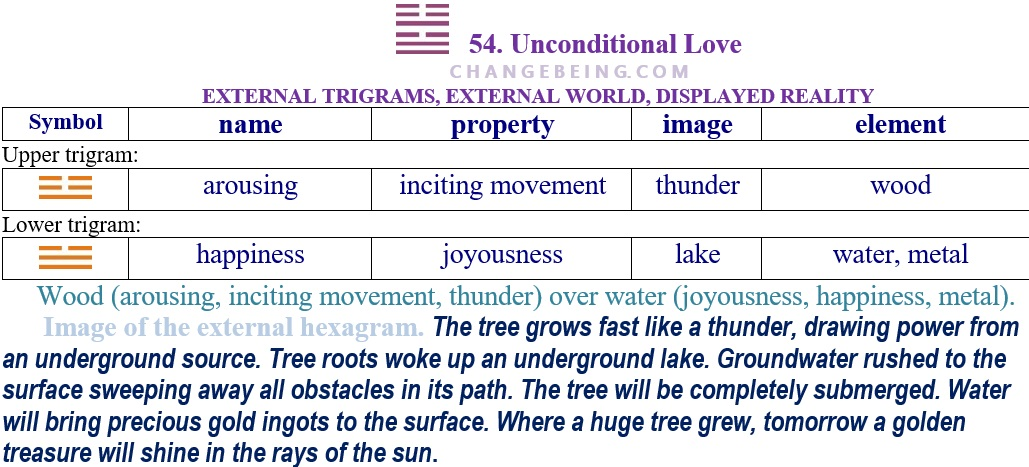 Hexagram 54 Relationship external trigrams